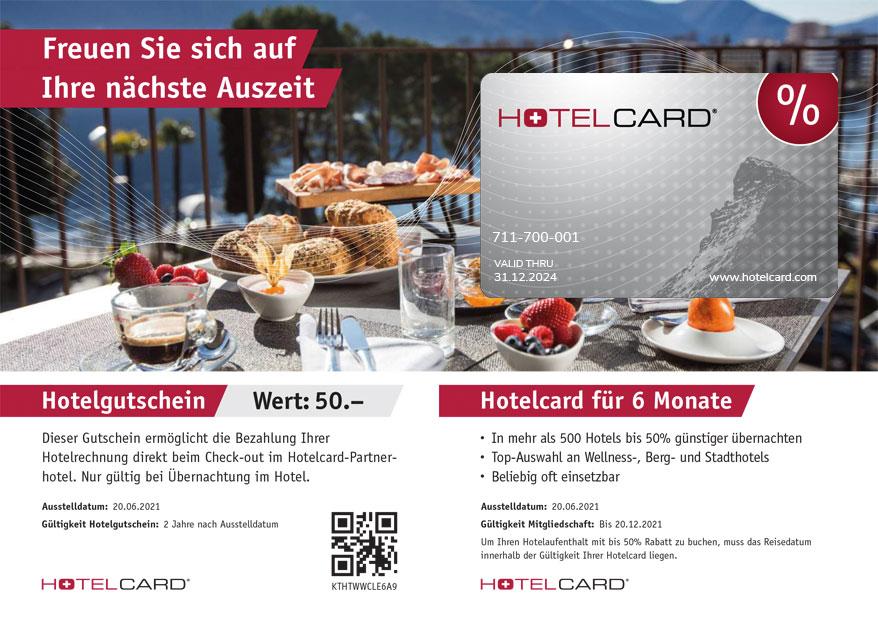 Hotelcard gift voucher image