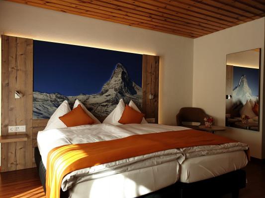 Typically Swiss Hotel Täscherhof Alpine Style Double Room with balcony 0