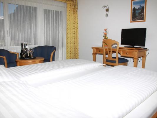 Walliserhof Double room de luxe south side 0